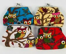 Women 4pc Lovely Coin Purse Lady Wallet Owl Hot