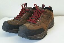 US 10 MENS STEEL TOE SKECHERS CONSTRUCTOR WORK SHOES 76852 Brown Leather Boots