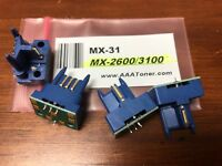 "4 x Toner Reset Chip for Sharp MX-2600N, MX-3100N Printer (MX-31) "" NT "" USA"