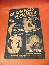 Partizione Del cappuccio piumato Jacques Hélian Lily Fayol 1948