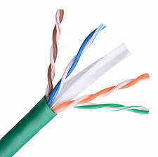 CAT6E Ethernet 550MHz Riser CMR Cable Green 1000FT 23 AWG BARE COPPER - NOT CCA