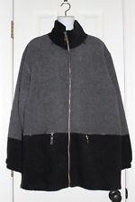 CS Signature Ladies Long Nubby Fleece Zip Up Front Jacket sz. L
