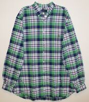 Polo Ralph Lauren Big and Tall Mens Green Plaid Button-Front Shirt NWT Size 1XB