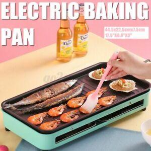 Japanese Korean Electric BBQ Table Grill Yakitori Barbecue Non stick Teppanyaki