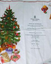 PALACE HOTEL GSTAAD RARE 1990 KREIRER SWISS COTTON HANDKERCHIEF, NAPKIN XMAS EVE