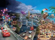 8-400 - Disney Multicoloured Cars World Komar Wallpaper