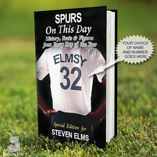 TOTTENHAM Book, PERSONALISED. History Facts. Spurs Fan Gift. Football Gift Idea