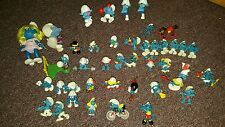 Vintage 1978+Schleich Peyo Smurf Figurines LOT of 40 + sports, Smurfette, Hefty,