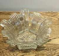 Vintage Cut Glass Fruit Bowl. Centrepiece