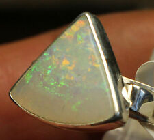 Multicolor Brazil Crystal Opal 3.6 quilates 950er anillo de plata tamaño 19,4 mm única