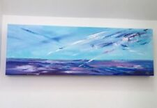 Acrylic Medium (up to 36in.) Blue Art Paintings