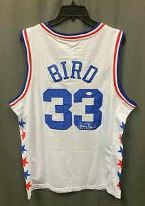 Larry Bird #33 Signed All Star Game Jersey Mitchell & Ness Sz L JSA WITNESSED