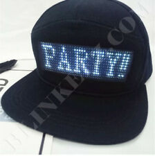 USA LED Programmable Custom Message LED Hat- Messages, Designs, and More LED Fun