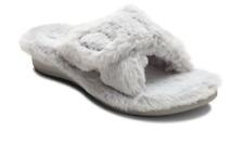 Vionic Relax Plush Light Grey Slide Slipper Sandal Women's sizes 5-11 NEW!!!