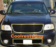 For 99~03 Ford F-150/Lightning/Harley Black Billet Grille Combo Inserts