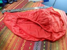 Parr Men's Shiny Red Bikini - Stretch Nylon - Unined - Size US32 VTG NOS