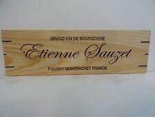 ETIENNE SAUZET MONTRATCHET FRANCE  WOOD WINE PANEL  GREAT CONDITION