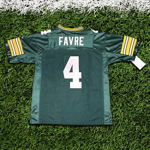 BRETT FARVE #4 GREEN AUTHENTIC THROWBACK JERSEY
