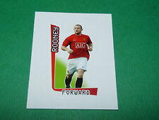 N°371 W ROONEY MANCHESTER UNITED MERLIN PREMIER LEAGUE FOOTBALL 2007-2008 PANINI