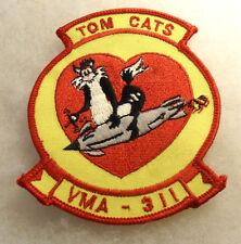 USMC 80/90'S VMA SQUADRON 311 TOM CATS EMBROIDERED ON TWILL MERROWED EDGE