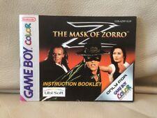 LE MASQUE DE ZORRO-Nintendo Game Boy Color manuel d'instruction pour-azrp-EUR