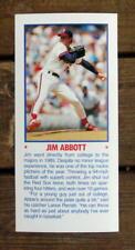 """Jim Abbott 5""""X11"""" Photo Placard Booklet Cover Cut Mint Oddball"""