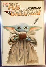 POE DAMERON: STAR WARS #1 MARVEL BABY YODA ORIGINAL SKETCH ART COVER