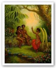 Adam and Eve Limited Edition Tim Ashkar African American Art Print 26x31