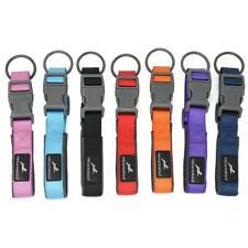 MIRO & MAKAURI Neoprene Padded Nylon Clasp Dog Collars 6 Sizes 7 Colours