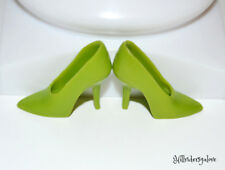 Dressmaker Details Repro Barbie Fashion Shoes ~ Olive Green High Heels / Spikes