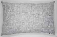 Handmade Light Grey Textured Home Decor Oblong Cushion Cover 50x30 New