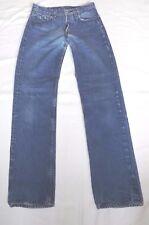 Da Uomo Levis W28 L32 Blu Denim Jeans Pantaloni da patta con bottone si prega di vedere la descrizione
