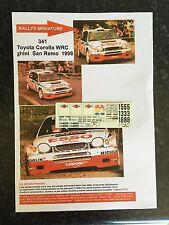 DECALS 1/43 TOYOTA COROLLA WRC JANOS TOTH RALLYE SAN REMO ITALIE 1998 RALLY
