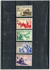 SET 5 SEMI-OFFICIAL STAMPS, LEGION VOLONTAIRES FRANCAIS CONTRE LE BOLSCEVISME  m