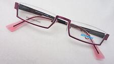 Reading Glasses Half Made of Stainless Steel Halbrandlos Dark Purple Mint Size M