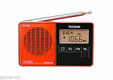 TECSUN PL-118 PLL DSP FM-Stereo Single Band Radio << ORANGE COLOR >>