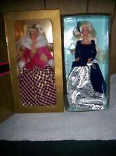 2 Avon Winter Rhapsody And Winter Velvet Collector Barbie