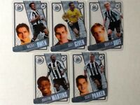 TOPPS PREMIER LEAGUE 2006/07 I-CARDS. FULL SET OF ALL 5 NEWCASTLE UNITED