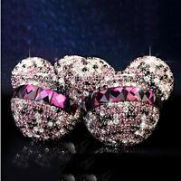 2Pcs Auto Car Dashboard Mini Air Freshener Mickey Mouse Perfume Diffuser Decor