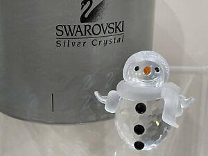 Swarovski Crystal Figurine Snowman 7475 000 605