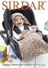 Sirdar Baby Car Seat Blanket Snowflake Knitting Pattern 4912  Chunky (Sirdar-...