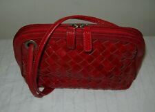ESTATE VINTAGE BO BO BAGS CA Red Braided Leather Shoulder Bag