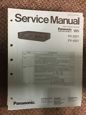 Panasonic Service Manual for Model PV-2201 and PV-4201