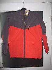 John Lewis Boys'/Girls  sporty jacket orange/grey 10 Years