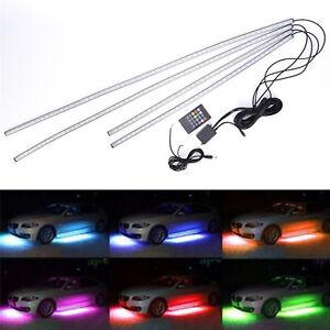 7 Color 5050 LED Underbody Under Car Lights Kit + Remote + Sound Activate effect
