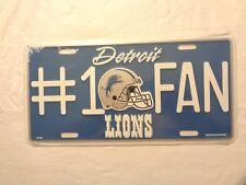 NFL Detroit Lions License Plate Auto Metal Tag