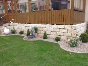 Gartenmauer Hochbeet Naturstein Rustikal Massiv Bordkante Steine Landhaus  *TOP*