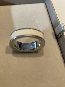 Calvin Klein Ring Gr. L8 Silber/creme