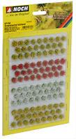 Noch 07135 HO- Grasbüschel blühend gelb,rot,weiß veredelt 6 mm 104 Stck, GMK