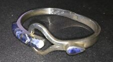 Sterling Silver Bracelet with Lapis Lazul inlay